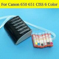 6 farbe CISS System Für Canon MG6360 Kompatibel Für Canon PGI650 CLI651 CLI651GY CISS