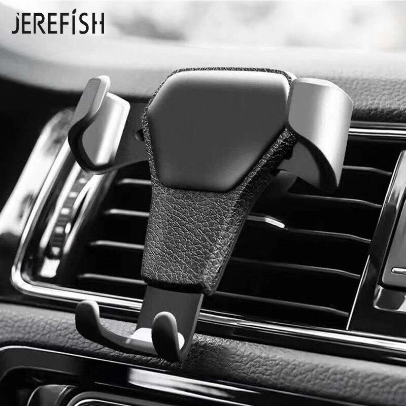 JEREFISH Gravity Car Phone Holder Universal Smartphone Grip Air Vent Mount Mobile Phone Holder Stand For Car Mount iPhone Stand mobile phone car vent holder