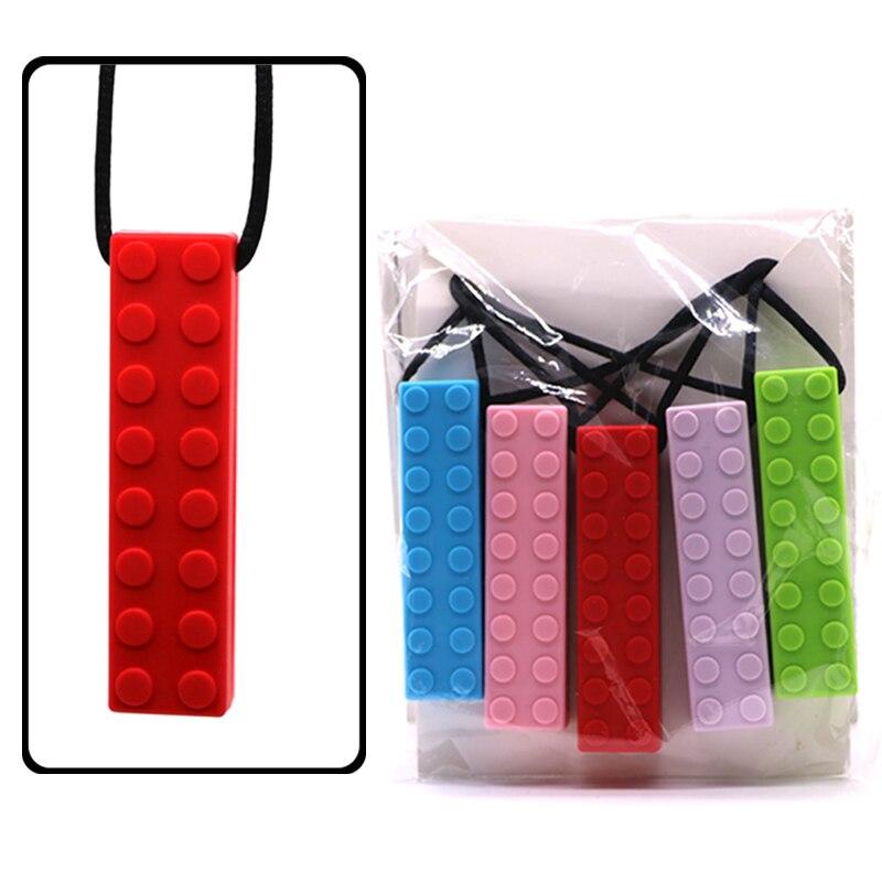 5db / set Tégla Stick Baba fogazású medál BPA Szabad szilikon - Babaápolási