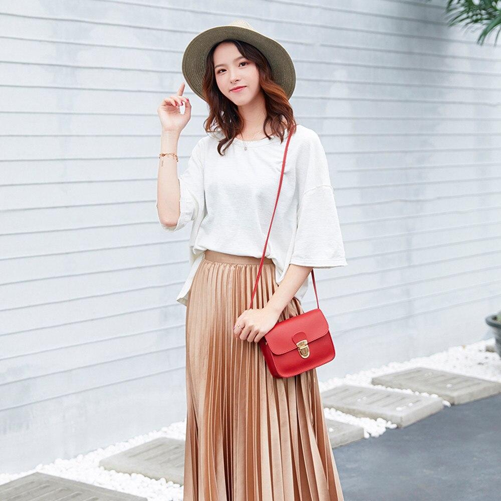 Для женщин модные однотонные Цвет замок крышки сумка через плечо сумка телефон сумка белый ретро женский небольшая сумка