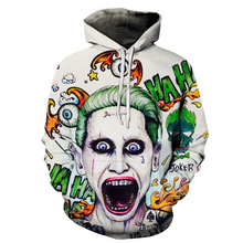 New Joker Sweatshirts Men Brand Hoodies Men Joker Suicide Sq