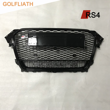 GOLFLIATH For A4 RS4 style Grill ABS Front Honey Mesh Grille front bumper grill quattro fit