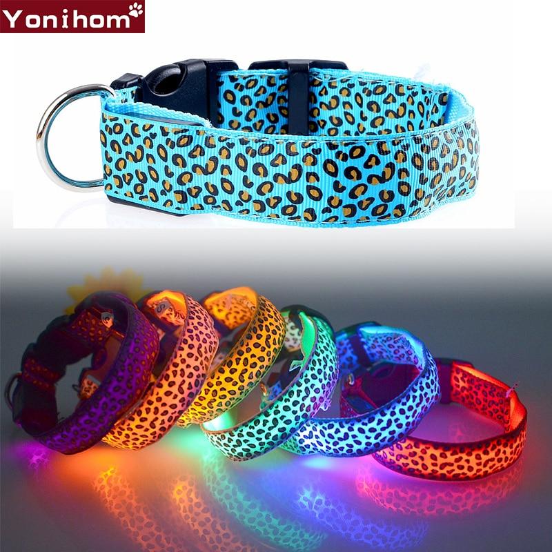 Nylon LED Pet Dog Collar,Night Safety Flashing Glow In The