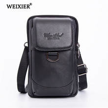 Mens Shoulder bag Leather material British Retro Casual Style High quality Multi-functional Design Large capacity