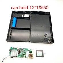 ノートブックパワーバンク急速充電 18650 ケース QC3.0 DIY バッテリー急速充電器ボックスシェル DC5V12v15v 19 V USB 外部バッテリー充電器