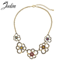 Joolim Rainbow Cluster Collar Necklace Antique Gold Garden Mother Gift