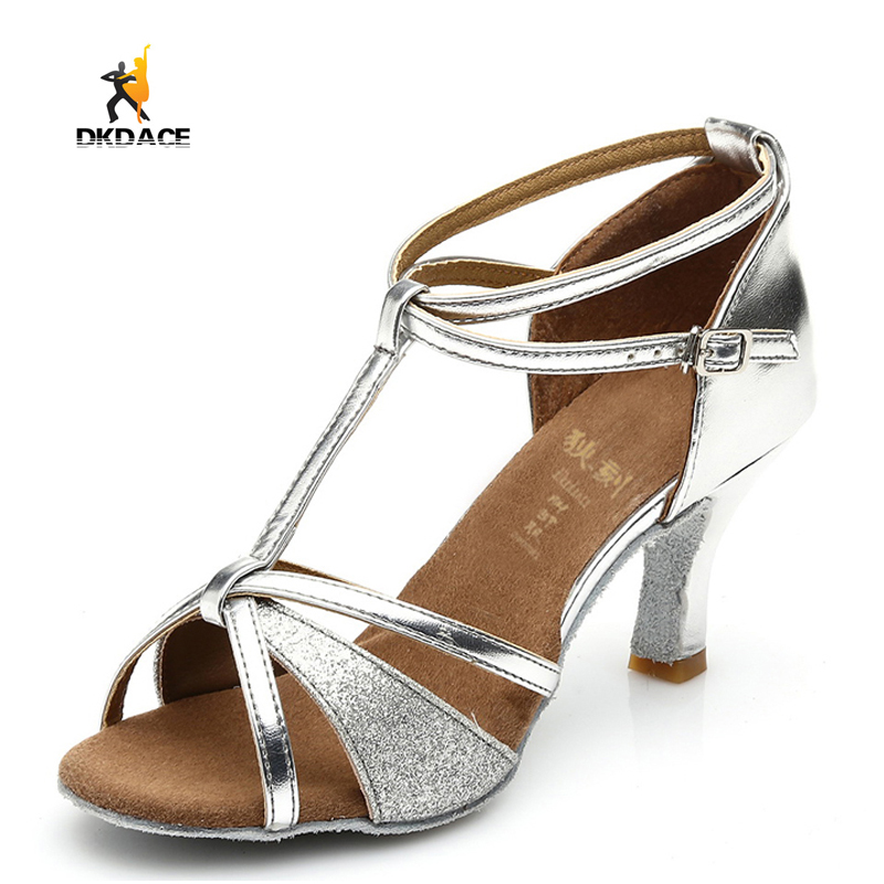 Girl s Women s Ladies Sandals Sparkling Glitter PU Sequined Cloth  Ballroom Latin Dance Shoes Silver Black Gold 7CM 5CM Med Heel 6de67fced6