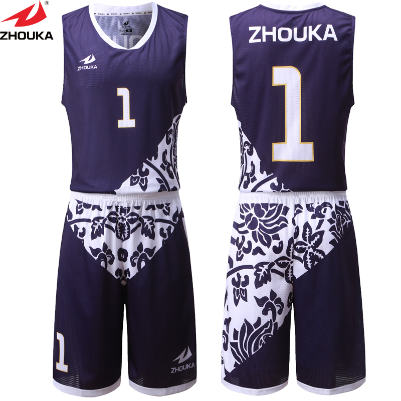 cab534714 New Sublimation Printing Basketball Jerseys Set High Quality Sleeveless Men  Sports Jersey Basketball Training Uniforms Suit
