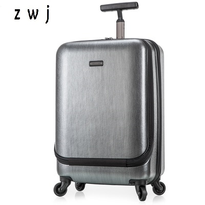 Us 175 0 Fashion High Quality Rolling Luggage On Wheels Computer Bag Vintage Trolley Suitcase 21 25 Inches Men Travel Bags In From
