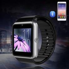 Heißer Verkauf Gut GT08 Bluetooth Smart Uhr tragbare geräte Unterstützung SIM TF Karte Smartwatch Für apple Android OS telefon