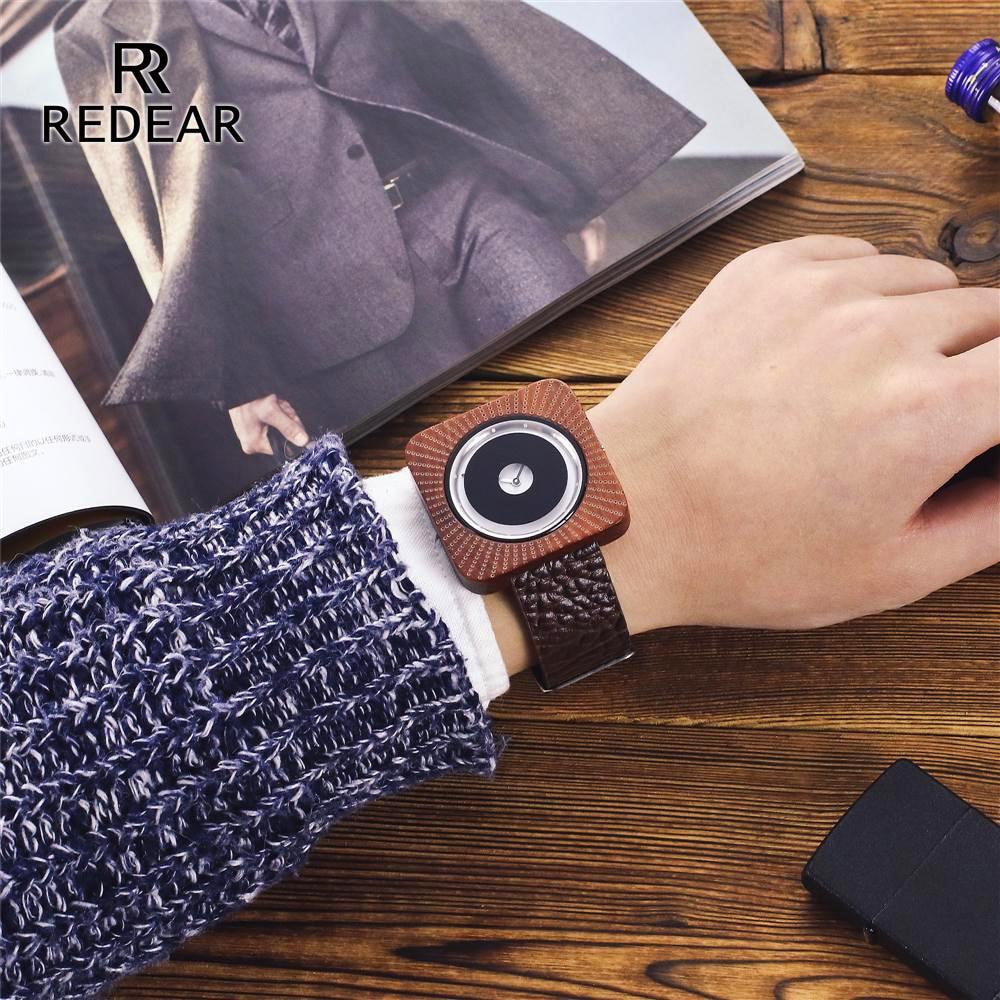 REDEAR Timepieces Bamboo Watch för Män Kvinnor Trä Quartz Klockor - Damklockor - Foto 5