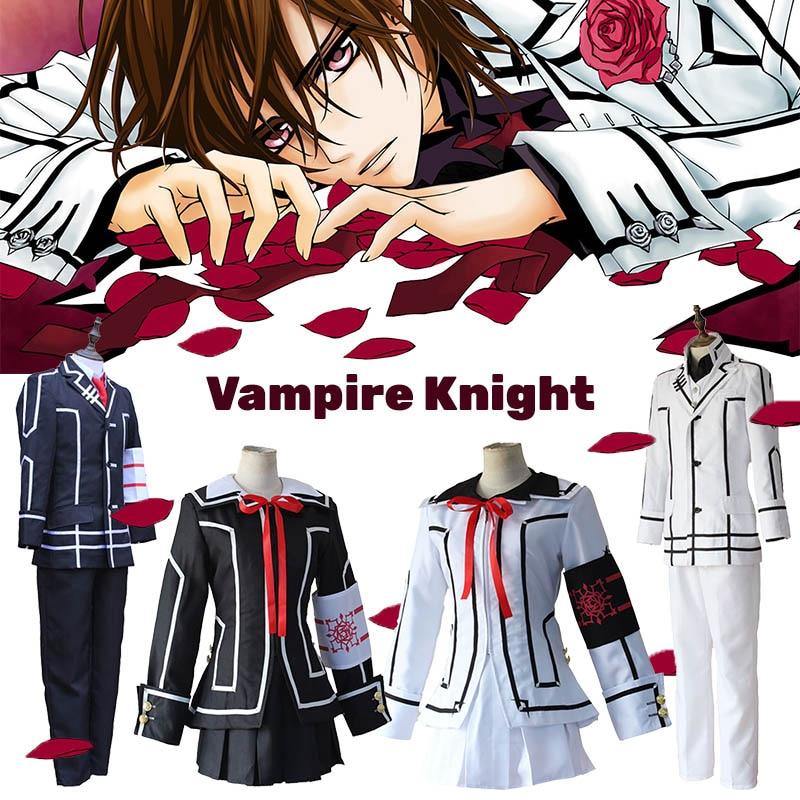 Vampire Knight Cosplay Costume Kurosu Kuran Yuki Souen Ruka Seiren Kiryu Zero Day/Night Class White Black School Uniforms Suits