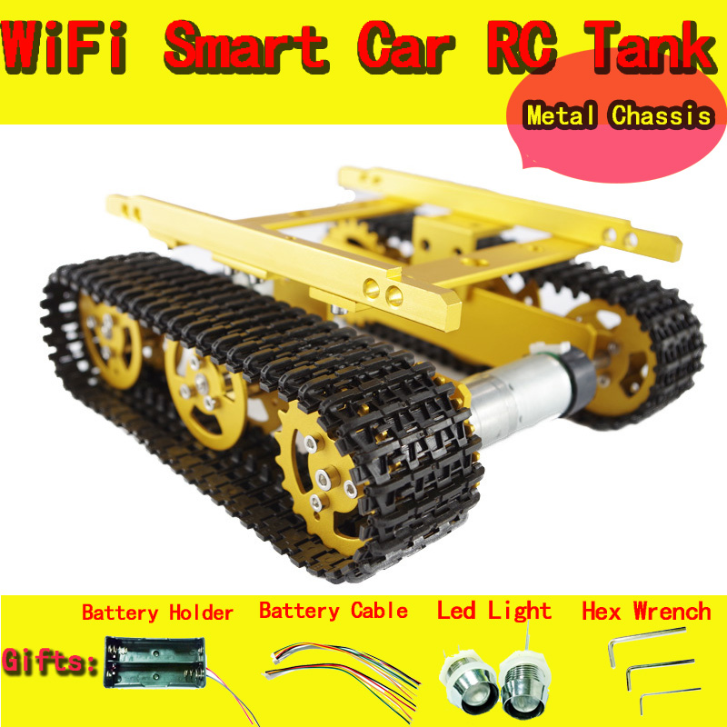 Original DOIT With Hall Sensor Motors Tank Car Chassis/tracked for DIY/Robot Smart Car Part for Remote Control,Free shipping original doit tank robot car chassis kit caterpillar diy robot electronic toy remote control tracked smart car development kit