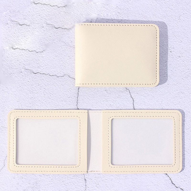 ID Card Holder With 2 Clear Card Sleeves Driver License And Identification Card Protector Wallet