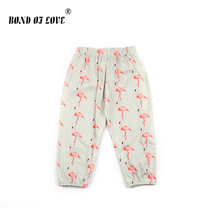 Baby Girls Boys Pants Flamingo Cartoon Clothing For Children Newborn Infant Full Length Cotton Pants For Toddler Boys Girls Kids