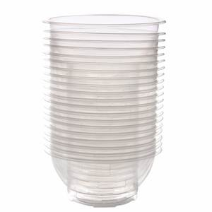 Disposable Bowls Serving-Bowl Kitchen-Storage-Tool Clear Plastic Party 20pcs Picnic Outdoor