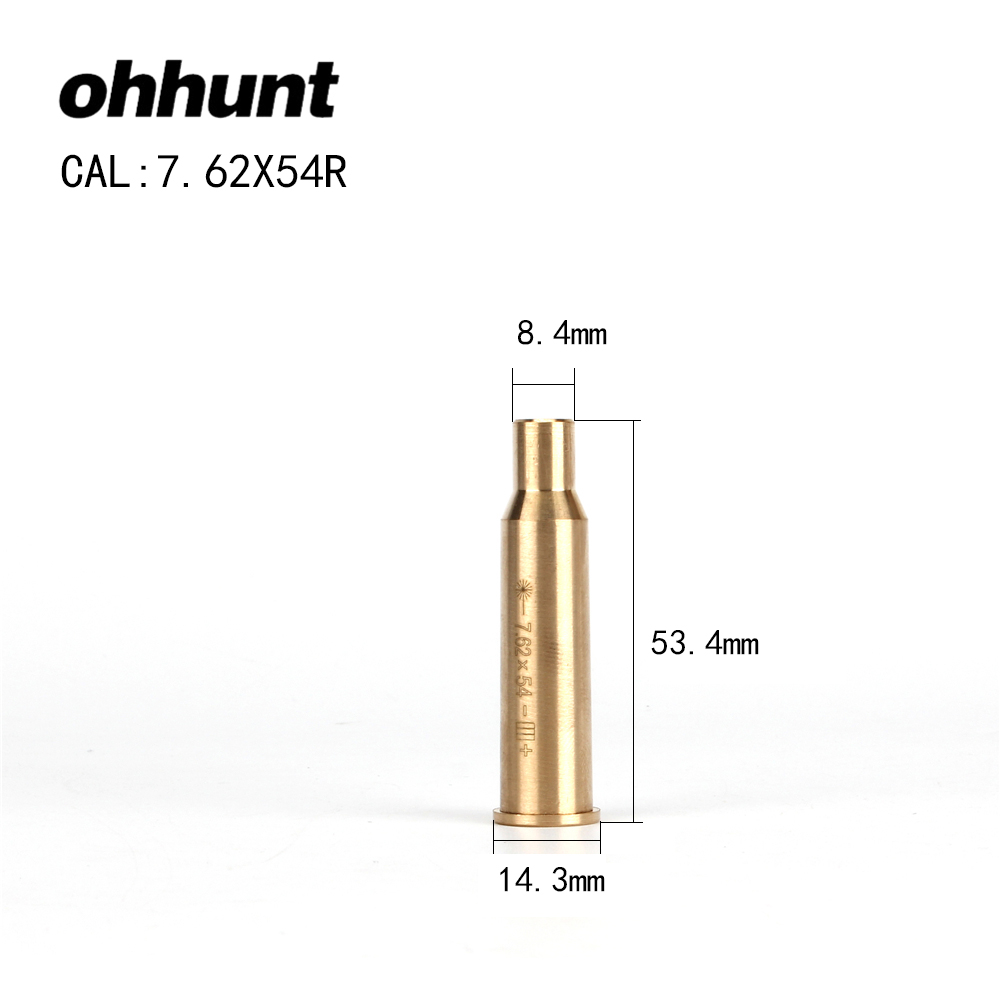 ohhunt CAL 7.62x54R Cartridge Red Laser Bore Sighter Boresighter Sighting Sight Boresight Colimador For Hunting Rifle