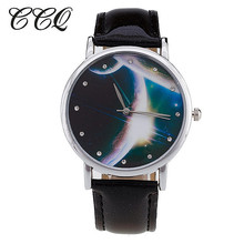 CCQ Trend Starry Sky Leather-based Costume Watch Ladies Informal Quartz Watch Girls Ladies Wristwatch Relogio Feminino Clock C29 Present