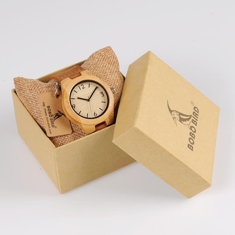 Damski drewniany zegarek Bobo Bird Note A32  w pudełku