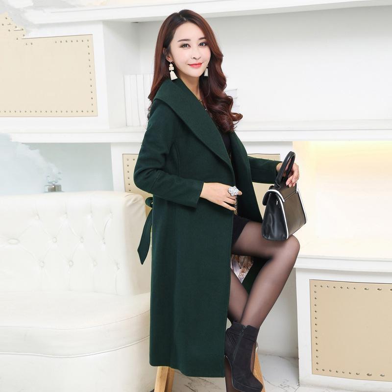 Womens Grey Wool Pea Coat