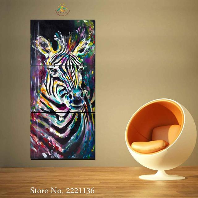 3 Pieces zebra Pictures Modern Wall Art Canvas Printed Painting HD ...
