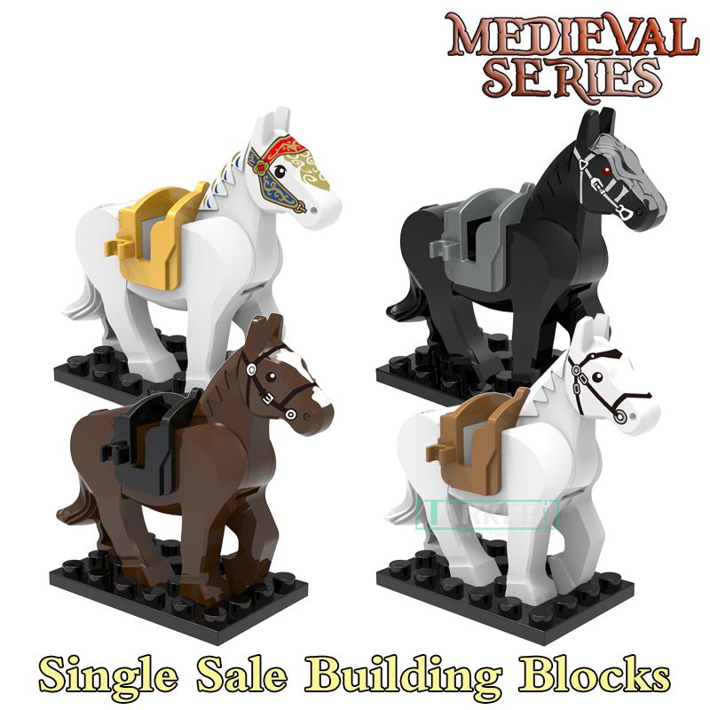 Building Blocks Horse Lord of the Rings The Hobbit Super Heroes Star Wars Set Model Bricks Kids DIY Toys Hobbies Figures building blocks the walking dead figures rick negan carl daryl star wars super heroes set assemble bricks kids diy toys hobbies