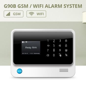 FUERS 2019 G90B-PLUS 2G GSM Сигнализация приложение дистанционное управление Умный дом умный 2,4G GSM GPRS SMS Wifi сигнализация система безопасности