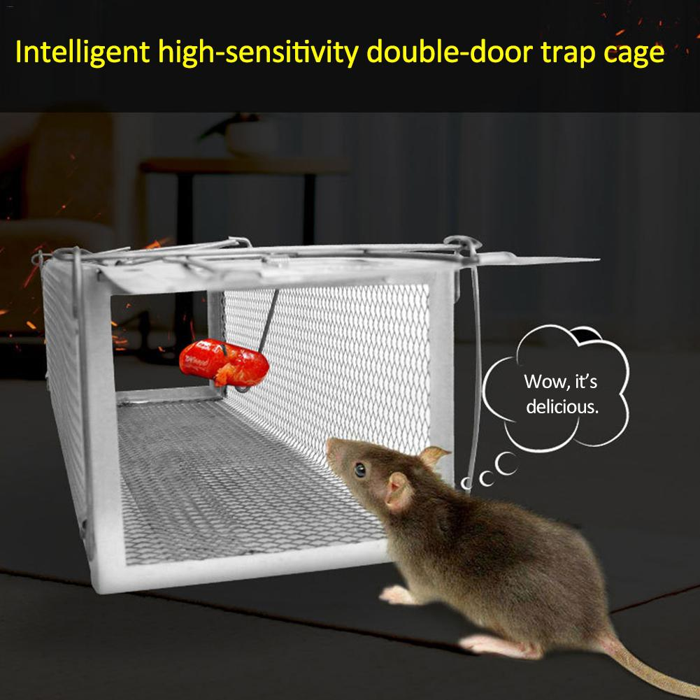 Smart Double Door Mouse Trap Cage Humane Rodent Catcher Camping Rat Repeller Pest Control