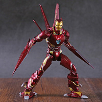 SHF Marvel Avengers Infinity War Action Figure Iron Man MK50 & Tamashi Stage PVC Collectible Model Toy