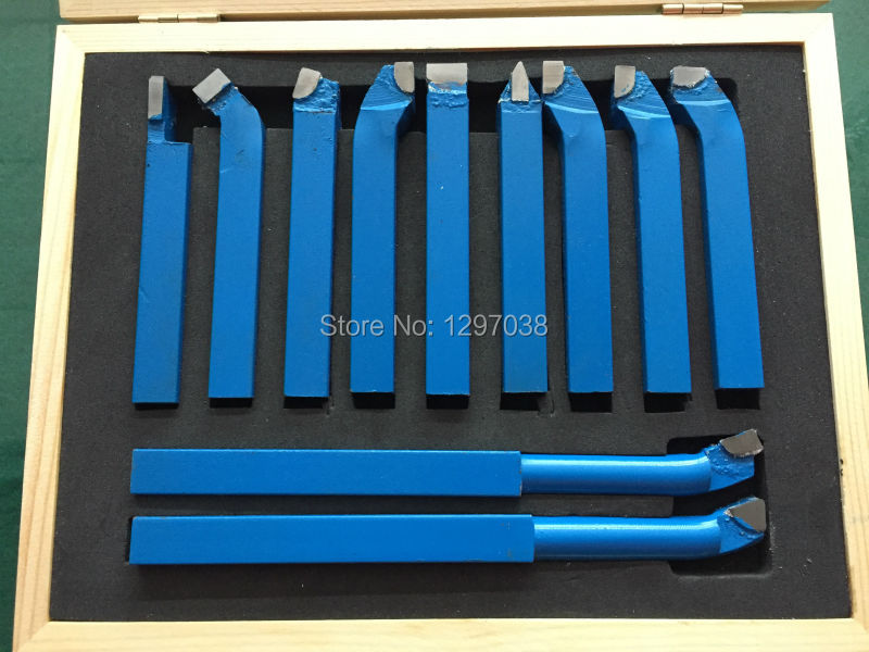 11pcs/set Turning Tool  12mm Carbide Tipped Lathe Turning Tool Weld Milling Cutting Turning Tool Set 60mm tungsten carbide tipped stainless