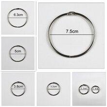 4 ชิ้น/ล็อตแหวนโลหะ Binder 15   75 มม.DIY อัลบั้มหลวมใบห่วงเปิด Office Binding Supplies