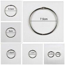 Encadernadores de anel de metal 15-75mm, 4 pçs/lote, diy, álbuns soltos, livro, argolas, abertura, escritório, suprimentos de amarração