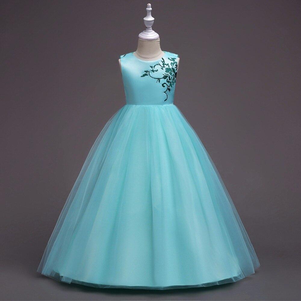 12 16 Summer Girl Flowers Dress Children\'s Clothing Ball Gowns ...