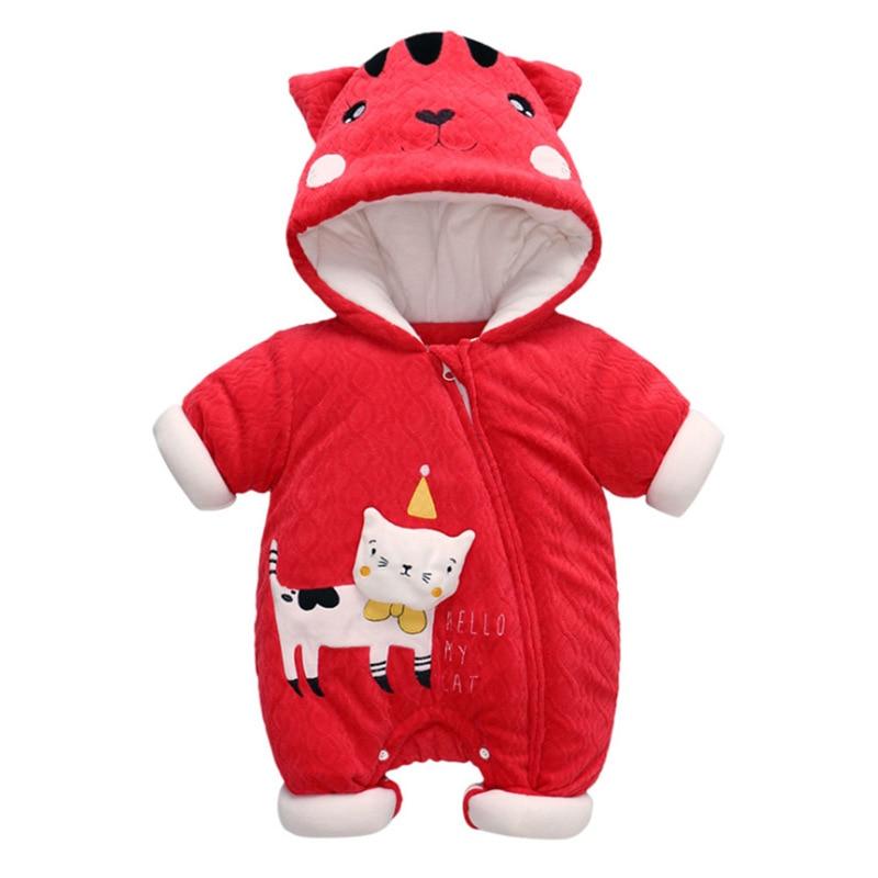 Baby Winter Romper Cute Animal Romper Thicken Warm Cute Cartoon New Born Baby Clothes Sets