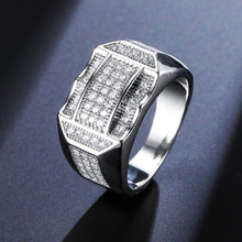 New Punk Hip Hop Size 7-13 Crystal Rhinestone Women Rings AAA Cubic Zirconia Gold Silver Plated  Luxury Femle Jewelry Best Gifts new arrival luxury aaa cubic zirconia ring fashion unisex lovers hip hop silver gold color ring