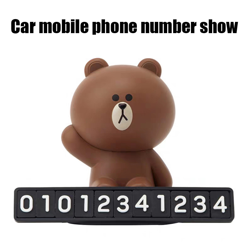 Car mobile phone number show cartoon character adjustable number in Drawing Board from Office School Supplies