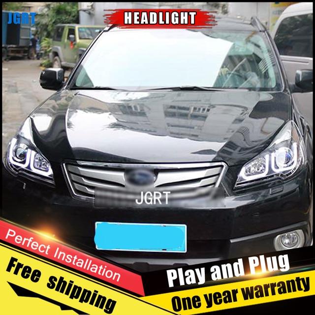 רכב סגנון LED פנסי לסובארו אאוטבק 2010-2013 עבור אאוטבק ראש מנורת LED DRL עדשה כפולה קרן H7 HID קסנון bi קסנון עדשה