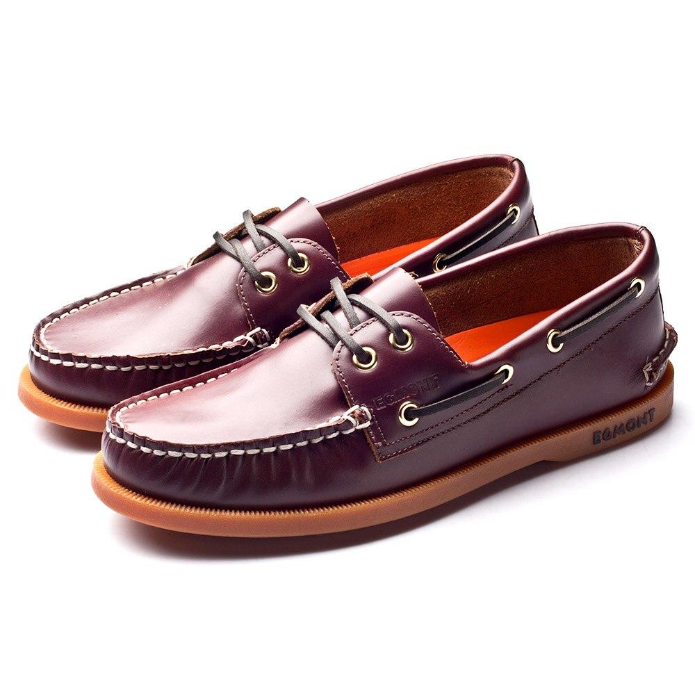 Эгмонт EG 09, винно красный цвет, весна лето, водонепроницаемые мокасины, мужская повседневная обувь, лоферы, натуральная кожа, масло, воск, ручная работа, удобная дышащая обувь - 2