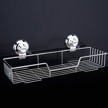 Dehub Suction Cup 304 Stainless Steel Bathroom Caddy Shower Basket  Kitchen Spice Rack Storage Organizer