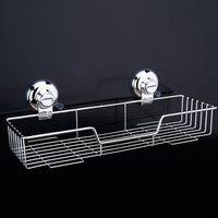 Dehub Suction Cup 304 Stainless Steel Bathroom Caddy Shower Basket Kitchen Spice Rack Storage Basket Rack Bathroom Organizer