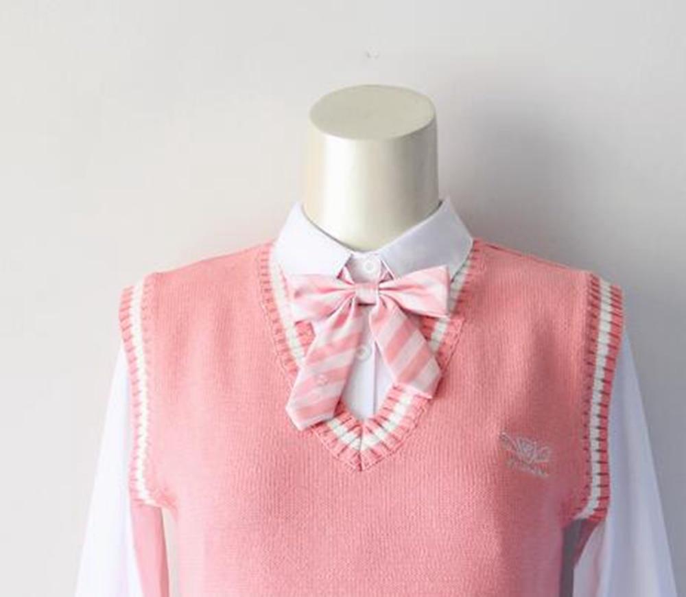 Cute Girls Japanese Striped Bow Tie Preppy Skull Heart -4728