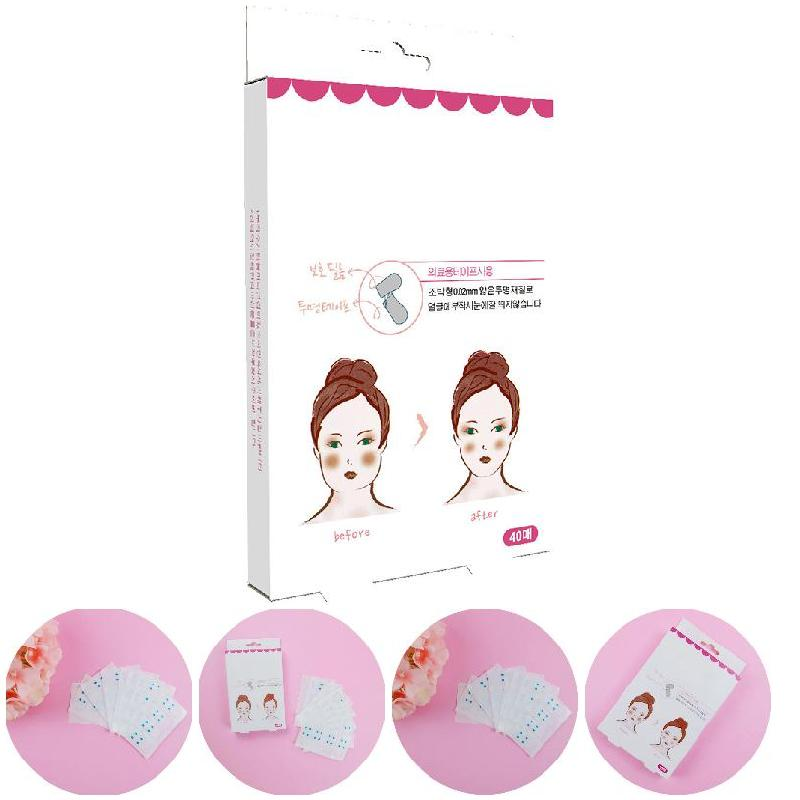 2018 1 Box/40pcs Effective Lift Face Sticker Thin Face Artifact Invisible Sticker Lift Chin Tape Makeup Tools Face Lift Tools