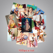 Retro Stickers Poster Guitar Laptop Sexy Waterproof Fashion Trolley Cool 100pcs Toy Case