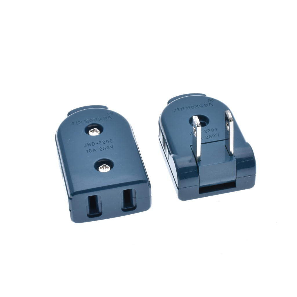 250v 10a male female butt plug socket connector sockets us industrial electrical ac power cord receptacle wiring [ 1024 x 1024 Pixel ]