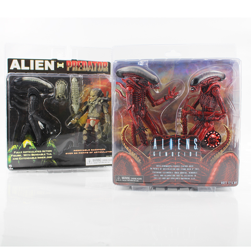 2style NECA Alien VS Predator Tru Exclusive Alien genocide PVC Action Figure Toy neca planet of the apes gorilla soldier pvc action figure collectible toy 8 20cm