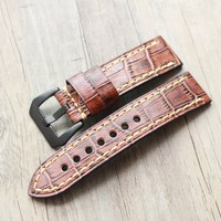 4 color New watch bracelet belt Brown Green Blue Red Watchbands Genuine Leather Strap watch band 20mm 22mm 23mm 24mm watch strap