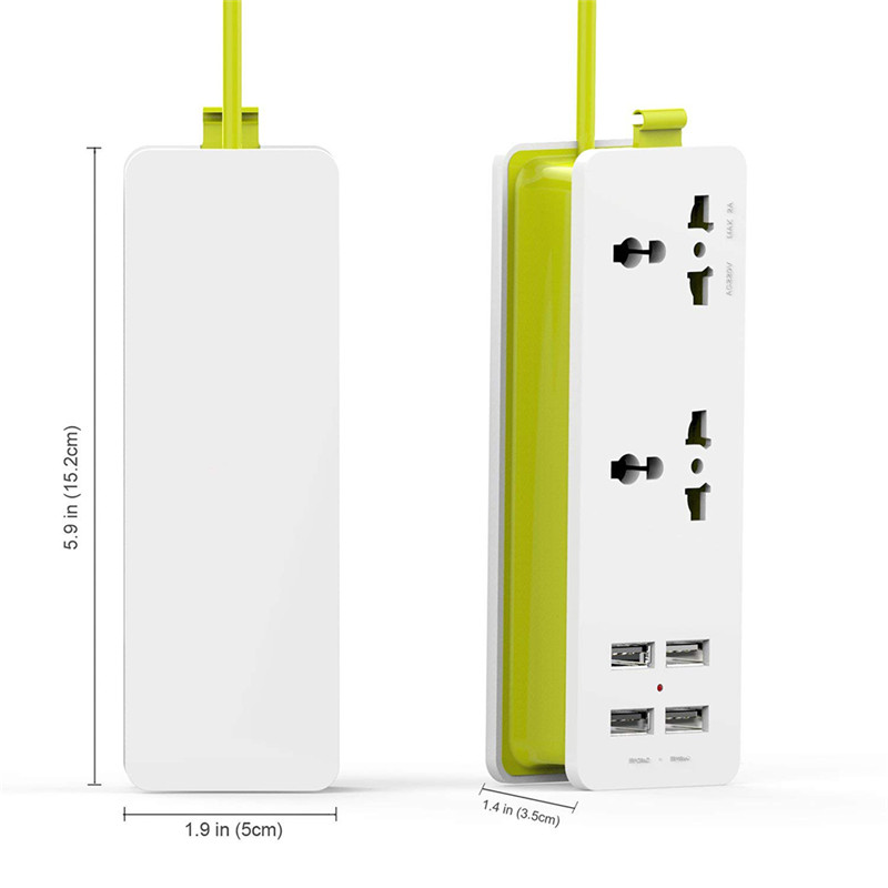American standard European standard EC socket FCC wiring board, green, 2 digit 4USB three hole American standard