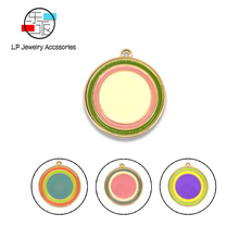 rainbow color Enamel Jewelry findings Alloy Material Handmade Charms Earrings necklaces DIY Making Accessories 10pcs/lot