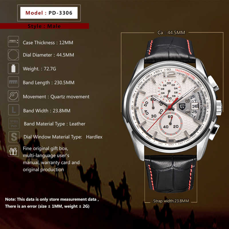 Pagani design relógios homens marca de luxo multifunções quartzo masculino cronógrafo relógio esporte mergulho 30m relógio casual relogio masculino