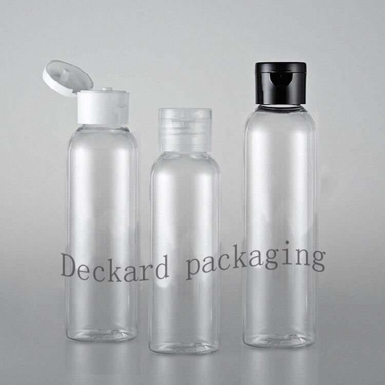 40PCS 120 150 200ml Plastic Shampoo Bottle Flip Cap Empty Cream Container Refillable Lotion Bottle PET